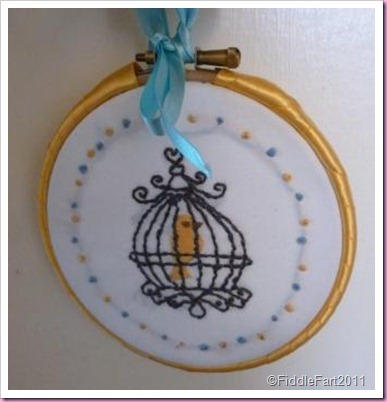 cross stitch bird