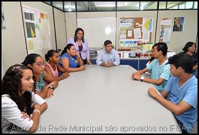 CAIC Alunos da Rede Municipal São Aprovados no IFBA