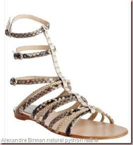 Alexandre Birman natural python and braided leather