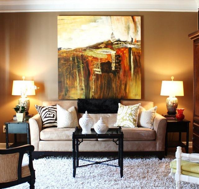 Big Art Behind Sofa The Living Room