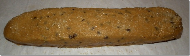 Ginger Choc Cookie Sticks dough log