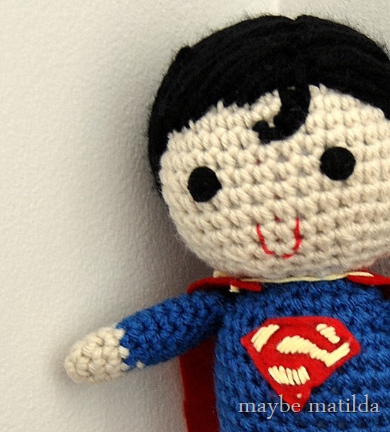 Cute Crochet Superman