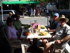 Joan, Helen, Sam and Me at Carolines's Cafe