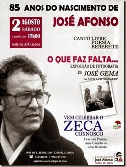 85 anos do nascimento de José Afonso.Ago.2014
