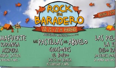 Cartel oficial de Festival Rock en baradero 2015