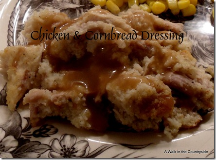 A Walk in the Countryside: Chicken & Cornbread Dressing