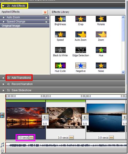 PhotoStage - Effetti e transizioni sulle foto
