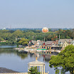 Boathouse Row and a balloon at the Philadelphia Zoo