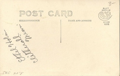 Postcard Ethyl Holm DL Antiques back