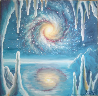 Frozen planet painting - Planeta inghetata pictura