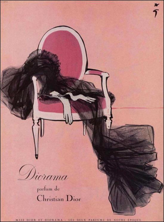 diorama dior ad campaign vintage