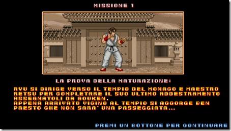 La schermata riassuntiva della prima missione