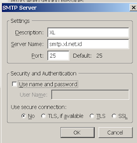 Setting SMTP XL Axiata