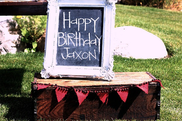 birthday chalkboard frame