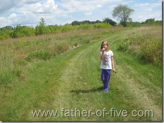 Ney Nature Center - Mowed Trail in the Prairie Grass area