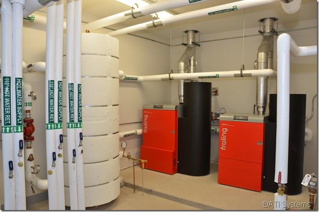 Two P4 Pellet Boilers