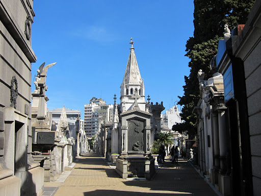 Extravagant mausoleums for Buenos Aires' well-to-do at the Recoleta Cemetary.