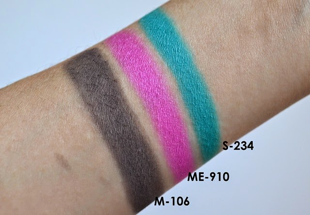 MAKE UP FOR EVER Artist Shadows Swatches