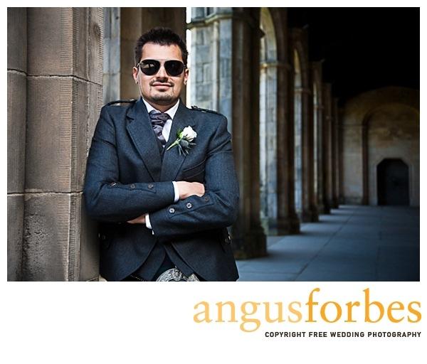 groom at st andrews university chapel Scottish wedding Photographer Dundee_030