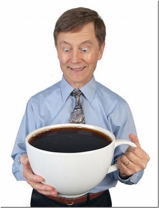 Xícara para viciados em café