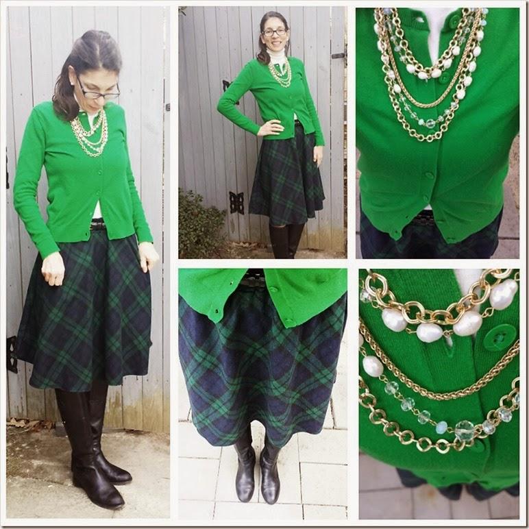 greensweater-tartanskirt1