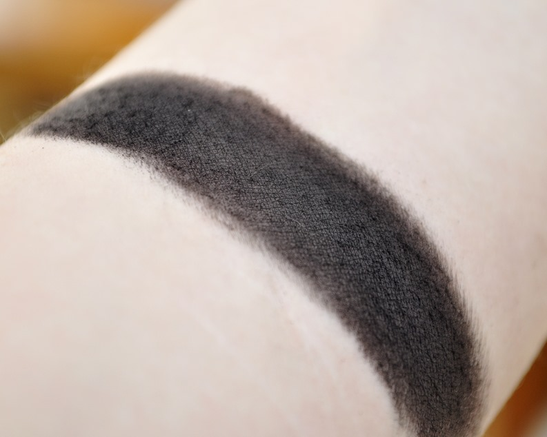 sugarpill bulletproof eyeshadow review matte black swatch