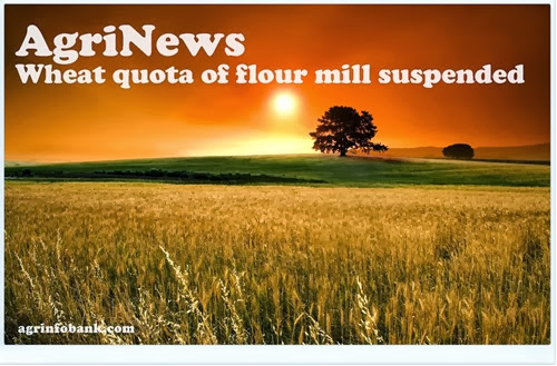 Wheat quota of flour mill suspended