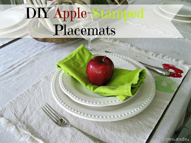 home.made. Apple Stamped Placemats