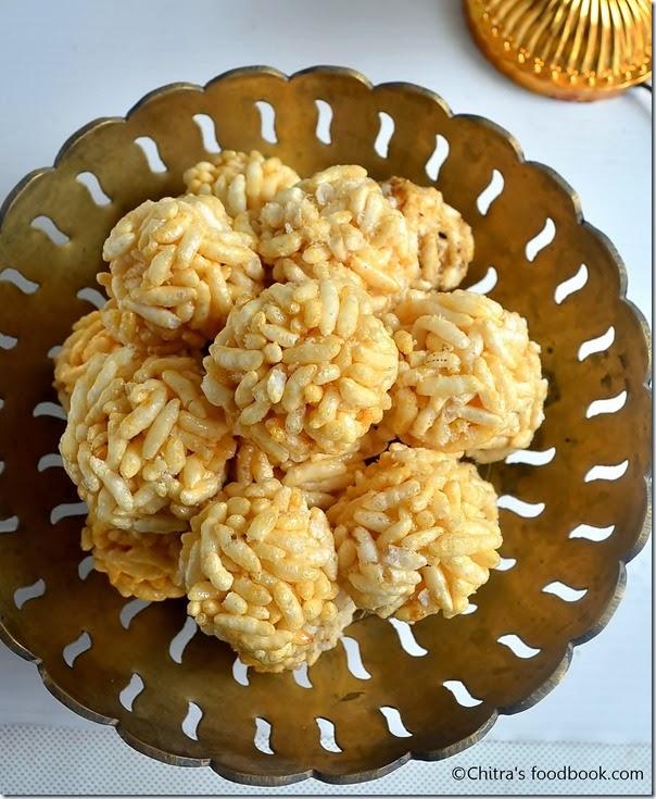 pori urundai recipe for karthigai deepam