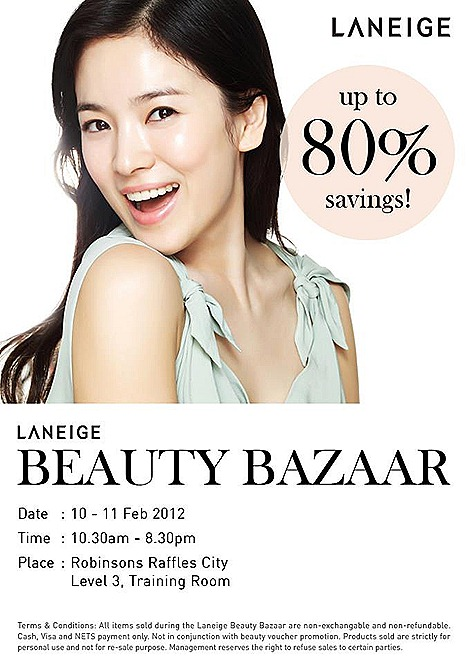 Laneige SALE Beauty Bazzar Robinsons Raffles City