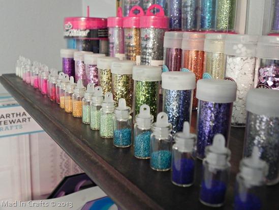 glitter shelf