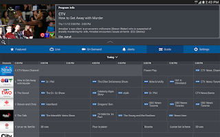 Screenshot of Bell TV