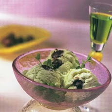Wintergreen Ice Cream with Chocolate Truffles