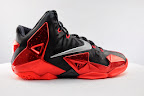 nike lebron 11 gr black red 5 12 New Photos // Nike LeBron XI Miami Heat (616175 001)