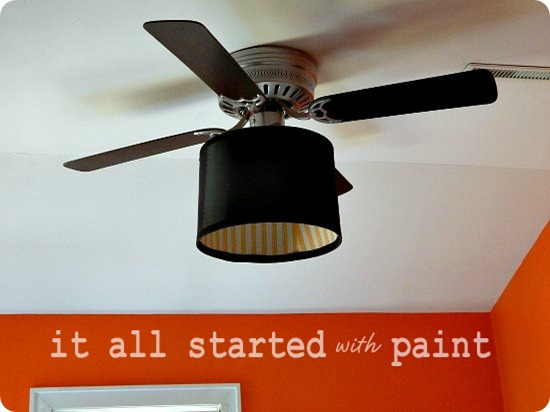 Ceiling Fan Makeover Final