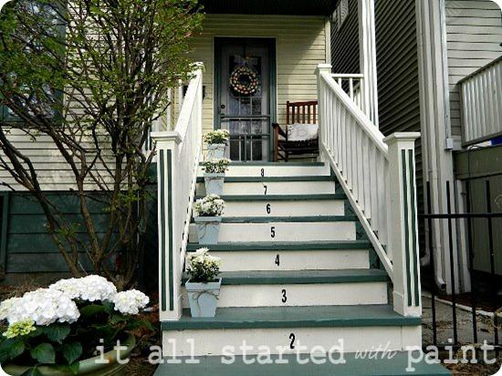 Spring front porch long shot