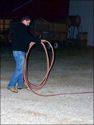 rolling hose