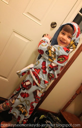 fire truck bathrobe
