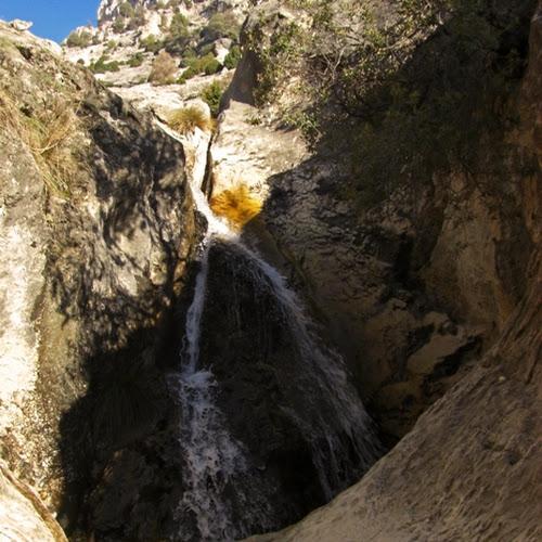 cascada en el barranco del charcón