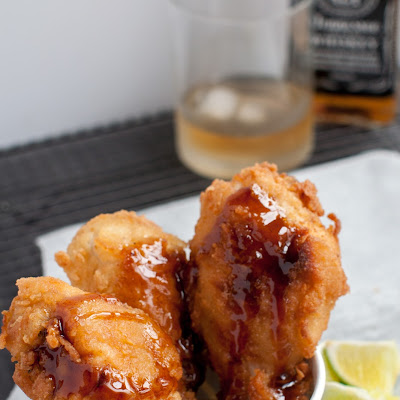 Fried Chicken With Maple Barbecue Glaze