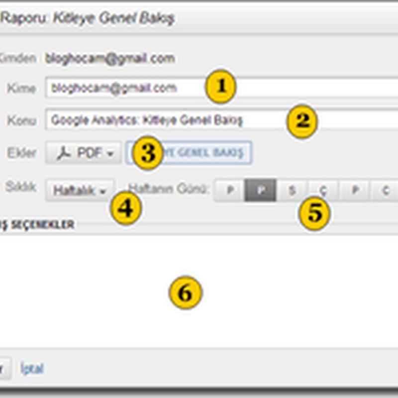 Analytics Verilerini E-Posta İle Takip Etme