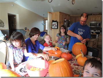 Pumpkins with Papa and Grandma