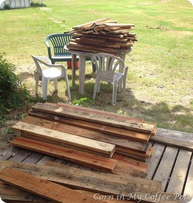 piles of pallet wood