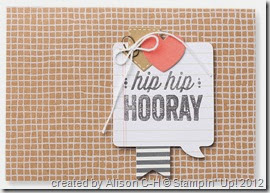 hip hip hooray - card sample 3