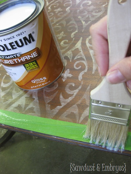 Seal the edges of your painters tape with poly {Sawdust and Embryos}