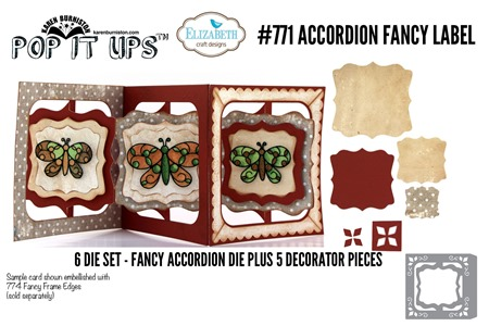 771 Accordion Fancy Label