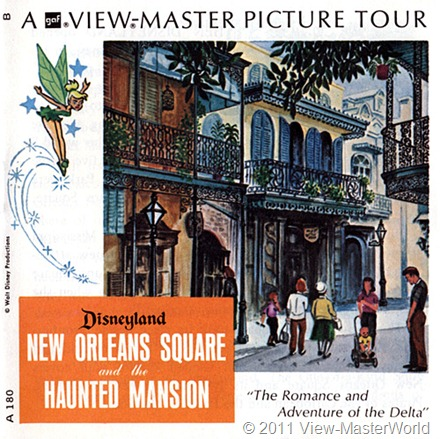View-Master New Orleans Square (A180), Booklet Cover