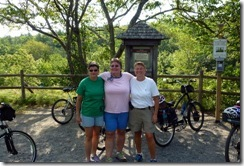 Pam, Gin and Syl on the Carriage Trail in Acadia