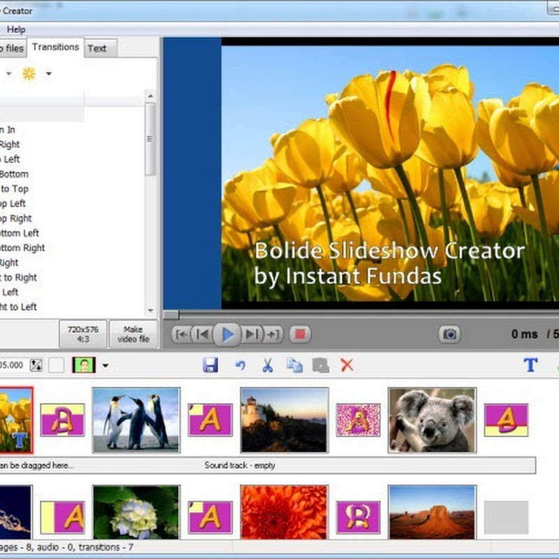 Bolide Free Video Slideshow Creator