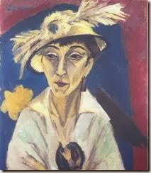 retrato de Erna Schilling ( retrato con sombrero)